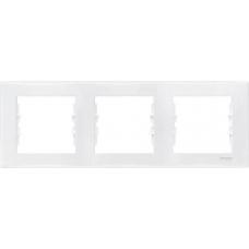 Декоративная рамка 3-постовая горизонтальная Sedna. Цвет Белый (SDN5800521)