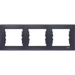 SDN5800570 Декоративная рамка 3-постовая горизонтальная Sedna. Цвет Графит