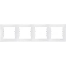 Декоративная рамка 4-постовая горизонтальная Sedna. Цвет Белый (SDN5800721)