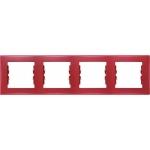 SDN5800741 Декоративная рамка 4-постовая горизонтальная Sedna. Цвет Красный