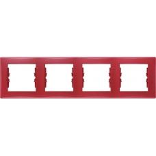 Декоративная рамка 4-постовая горизонтальная Sedna. Цвет Красный (SDN5800741)