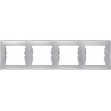 Декоративная рамка 4-постовая горизонтальная Sedna. Цвет Алюминий (SDN5800760)
