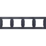SDN5800770 Декоративная рамка 4-постовая горизонтальная Sedna. Цвет Графит
