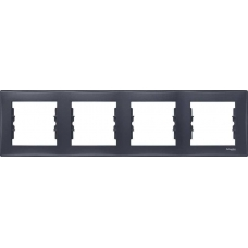 Декоративная рамка 4-постовая горизонтальная Sedna. Цвет Графит (SDN5800770)