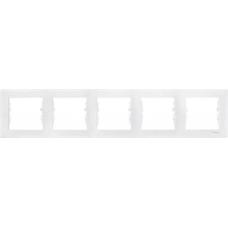 Декоративная рамка 5-постовая горизонтальная Sedna. Цвет Белый (SDN5800921)
