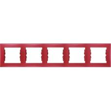 Декоративная рамка 5-постовая горизонтальная Sedna. Цвет Красный (SDN5800941)