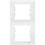 SDN5801121 Декоративная рамка 2-постовая вертикальная Sedna. Цвет Белый