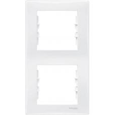 Декоративная рамка 2-постовая вертикальная Sedna. Цвет Белый (SDN5801121)