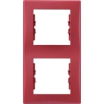 SDN5801141 Декоративная рамка 2-постовая вертикальная Sedna. Цвет Красный