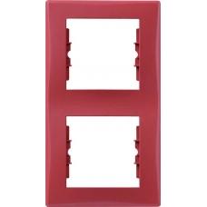 Декоративная рамка 2-постовая вертикальная Sedna. Цвет Красный (SDN5801141)