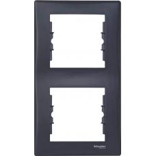 Декоративная рамка 2-постовая вертикальная Sedna. Цвет Графит (SDN5801170)