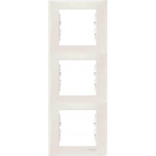Декоративная рамка 3-постовая вертикальная Sedna. Цвет Слоновая кость (SDN5801323)