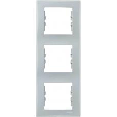 Декоративная рамка 3-постовая вертикальная Sedna. Цвет Серый (SDN5801333)