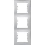 SDN5801360 Декоративная рамка 3-постовая вертикальная Sedna. Цвет Алюминий
