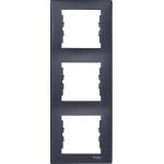 SDN5801370 Декоративная рамка 3-постовая вертикальная Sedna. Цвет Графит