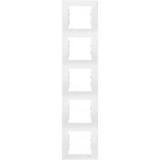 Декоративная рамка 5-постовая вертикальная Sedna. Цвет Белый (SDN5801521)