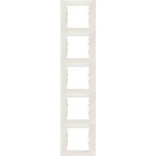 Декоративная рамка 5-постовая вертикальная Sedna. Цвет Слоновая кость (SDN5801523)