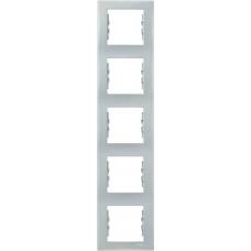 Декоративная рамка 5-постовая вертикальная Sedna. Цвет Серый (SDN5801533)