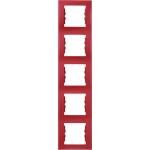 SDN5801541 Декоративная рамка 5-постовая вертикальная Sedna. Цвет Красный