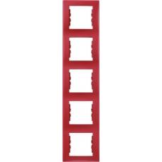 Декоративная рамка 5-постовая вертикальная Sedna. Цвет Красный (SDN5801541)