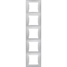 Декоративная рамка 5-постовая вертикальная Sedna. Цвет Алюминий (SDN5801560)