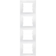 Декоративная рамка 4-постовая вертикальная Sedna. Цвет Белый (SDN5802021)