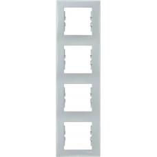 Декоративная рамка 4-постовая вертикальная Sedna. Цвет Серый (SDN5802033)