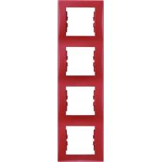 Декоративная рамка 4-постовая вертикальная Sedna. Цвет Красный (SDN5802041)