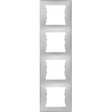 Декоративная рамка 4-постовая вертикальная Sedna. Цвет Алюминий (SDN5802060)