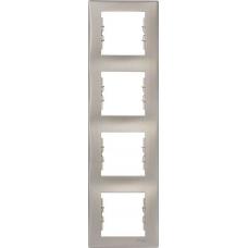 Декоративная рамка 4-постовая вертикальная Sedna. Цвет Титан (SDN5802068)