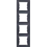 SDN5802070 Декоративная рамка 4-постовая вертикальная Sedna. Цвет Графит