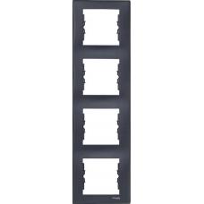Декоративная рамка 4-постовая вертикальная Sedna. Цвет Графит (SDN5802070)
