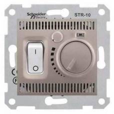 Термостат для теплого пола 10А серии Sedna. Цвет Титан (SDN6000368)